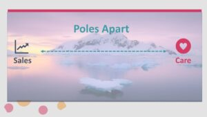 sales and care - poles apart